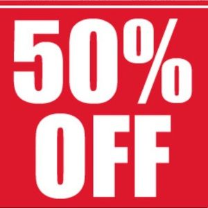 50% off all items in my closet!
